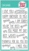 Handwritten Notes Clear Stamp - Avery Elle