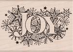 Joy Burst Wood Stamp