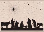 Nativity Wood Stamp