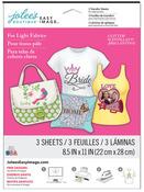 Light Fabrics Easy Image Glitter Transfer Sheets - Jolees Boutique