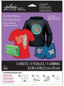 Dark Fabrics Easy Image Glitter Transfer Sheets - Jolees Boutique