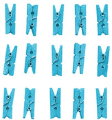 Blue Glitter Clothespins - Jolees Boutique