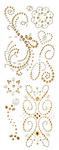 Champagne Swirl Adhesive Gems - K & Company