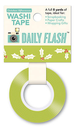 Holly Jolly Washi Tape - Eggnog - Daily Flash - October Afternoon