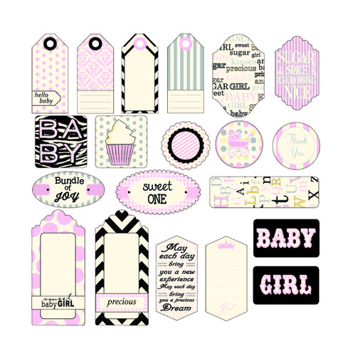 Baby Girl Tags - Canvas Corp