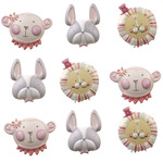 Baby Girl Animal Face Stickers - Jolee's Boutique