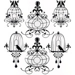 Bird Cages Repeat Stickers - Jolee's Boutique