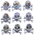 Skulls Repeat Stickers - Jolee's Boutique