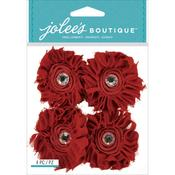 Maroon Large Floral Stickers - Jolee's Boutique