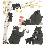 Bear Family Stickers - Jolee's Boutique