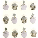 Wedding Cupcake Repeat Stickers - Jolee's Boutique