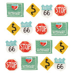 Road Sign Repeat Stickers - Jolee's Boutique