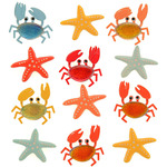 Crabs And Starfish Repeat Stickers - Jolee's Boutique