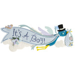It's A Boy Title Wave Sticker - Jolee's Boutique