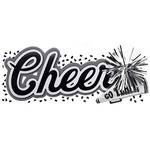 Cheer Title Wave Sticker - Jolee's Boutique
