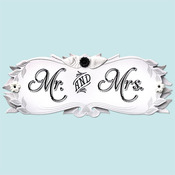 Wedding Mr. & Mrs. Title Wave Sticker - Jolee's Boutique
