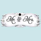 Wedding Mr. & Mrs. Title Wave Sticker - Jolee's Boutique