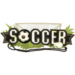 Soccer Title Wave Sticker - Jolee's Boutique