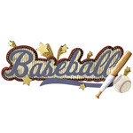 Baseball Title Wave Sticker - Jolee's Boutique