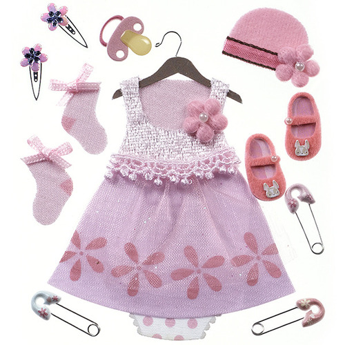 Baby Girl Outfit Dimensional Stickers - Jolee's Boutique