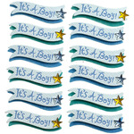 It's A Boy Banner Repeat Stickers - Jolee's Boutique