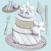 Wedding Cake Dimensional Stickers - Jolee's Boutique