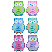Patterned Owls Dimensional Stickers - Sticko