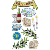 Passover Tradition Dimensional Stickers - Sticko