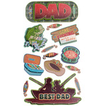 Fishing Dad Dimensional Stickers - Sticko