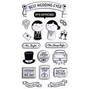 Best Wedding Ever Sticko Stickers