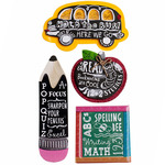 Chalkboard Words Dimensional Stickers - Jolee's Boutique