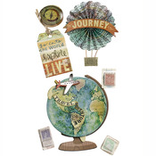 Map Medallions Dimensional Stickers - Jolee's Boutique