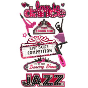 Dance Dimensional Stickers - Jolee's Boutique