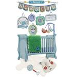 Baby Boy Nursery Dimensional Stickers - Jolee's Boutique