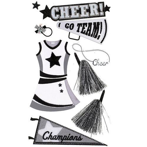 Cheerleading Dimensional Stickers - Jolee's Boutique