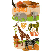 Safari Dimensional Stickers - Jolee's Boutique