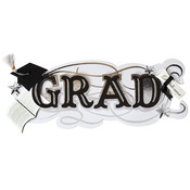 Grad Title Wave Sticker - Jolee's Boutique