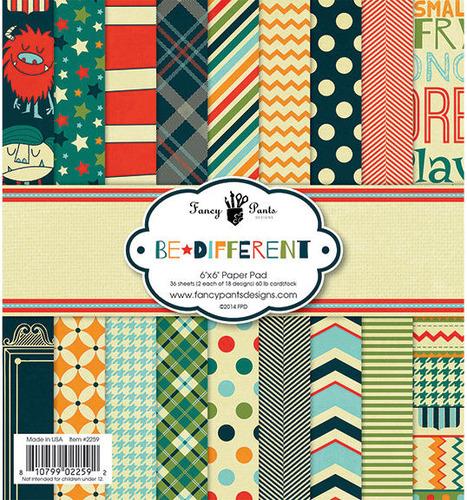 Be Different 6 x 6 Paper Pad - Fancy Pants Designs