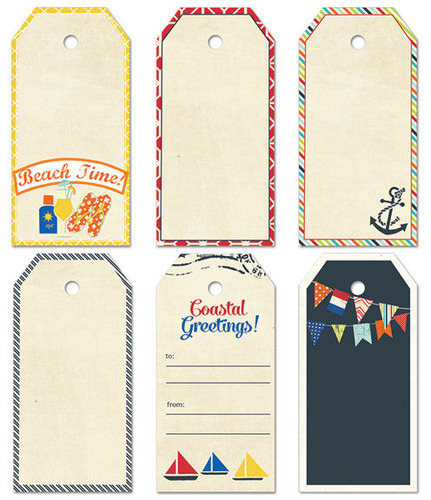 Nautical Large Decorative Tags - Fancy Pants Designs