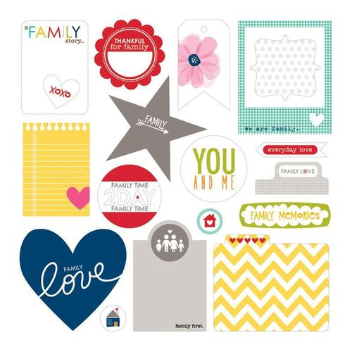 Family Forever Die Cuts Cardstock Paper Pieces - Bella Blvd