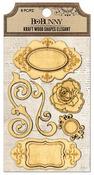 Elegant Kraft Wood Embellishments - Bo Bunny