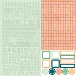 Date Night 12 x 12 Alpha Sticker Sheet - Chickaniddy
