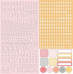 Twirlie Girly 12 x 12 Alpha Sticker Sheet - Chickaniddy
