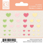 Twirlie Girly Enamel Hearts - Chickaniddy
