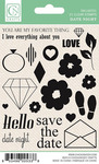 Date Night Clear Stamps - Chickaniddy