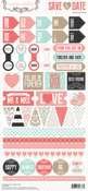 Save The Date Decorative Stickers - Teresa Collins