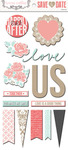 Save The Date Chipboard Element Stickers - Teresa Collins