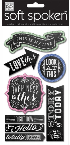 This Is My Life Chalk Stickers - Me And My BIG Ideas