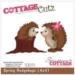 Spring Hedgehogs 4x4 Die - Cottage Cutz