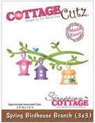 Spring Birdhouse Branch 3x3 Die - Cottage Cutz